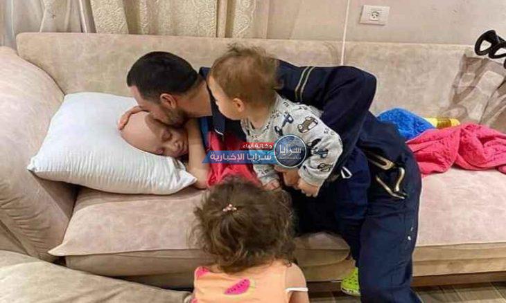 """""""قبلة الوداع""""  ..  فلسطيني يودّع طفله المريض بالسرطان قبل أن تعتقله قوات الاحتلال"""
