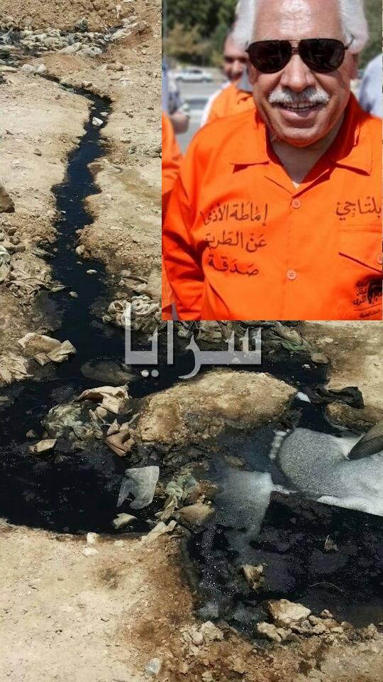 """بالفيديو والصور  ..  """"سرايا"""" تفجر فضيحة مكب الغباوي وضياع ملايين الدنانير : عصارة النفايات تسرح في الصحراء"""