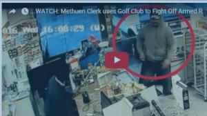 بالفيديو: لص مسلح يخترق زجاج المتجر بعد فشل عملية السرقة
