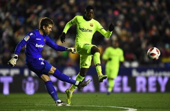 ليفانتي يهزم برشلونة في كأس إسبانيا