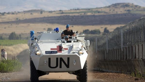 احتجاز 43 من قوات حفظ السلام بالجولان