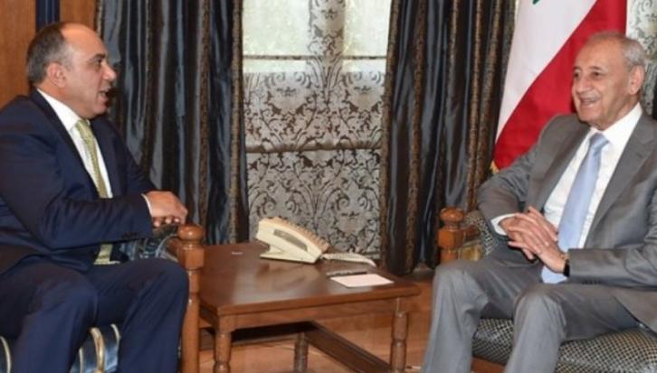 بري يستقبل القيسي ويثمن مواقف الأردن الداعمة للقضية الفلسطينية والقدس