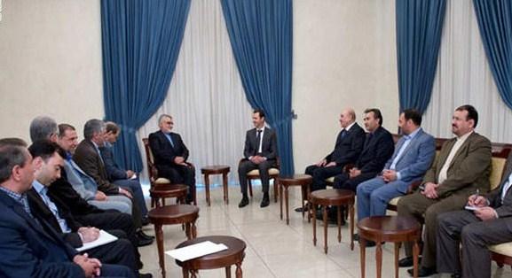 مملوك بجانب الأسد .. نفي لشائعات اعتقاله وتأكيد لموقف طهران