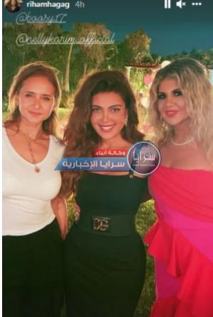 بالصور  ..  هكذا أحتفلت ريهام حجاج بعيد ميلادها بحضور عدة نجوم