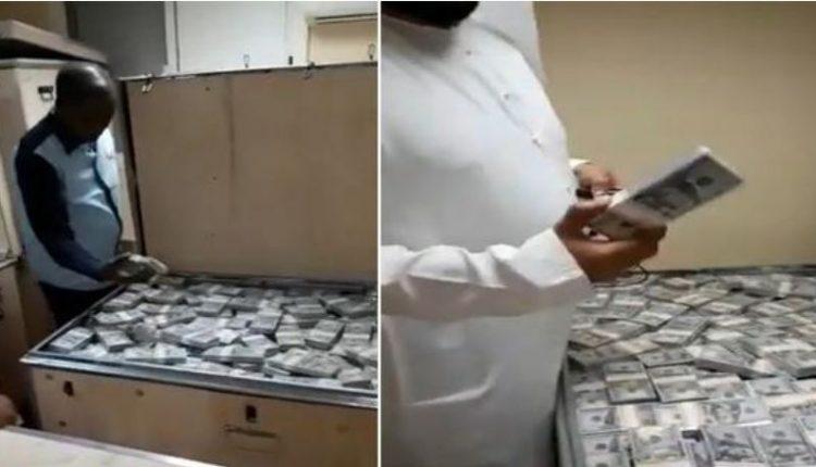 بالفيديو  ..  ما حقيقة ضبط صناديق ضخمة مملوءة بالدولارات على متن طائرة عراقية خاصة في مطار دبي ؟