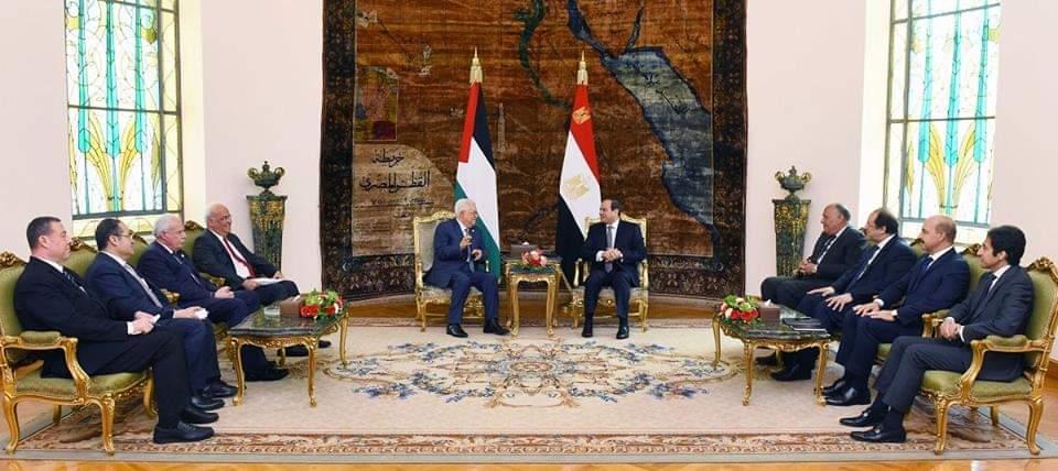 انتهاء لقاء أبو مازن مع السيسي بالقاهرة