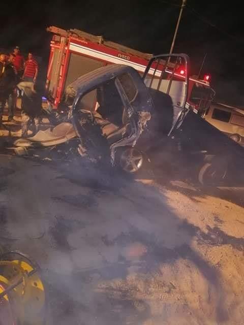 وفاة شخصين وإصابة (3) آخرين اثر حادث تصادم في اربد  .. صور