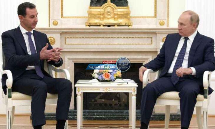 """بعد ساعات من لقائه بشار الأسد  ..  بوتين يدخل """"العزل"""" بسبب كورونا  ..  صور"""
