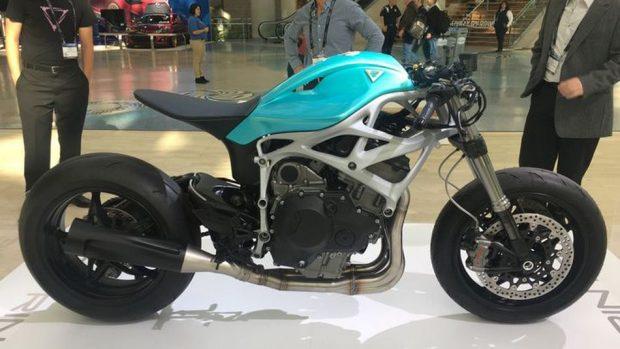 بالصور ..  أول دراجة نارية مطبوعة بتقنية ثلاثية الأبعاد