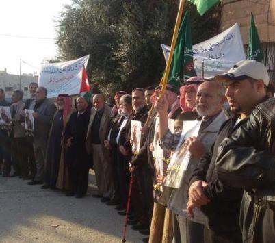 """الاخوان المسلمين  امام محكمة  امن الدولة احتجاجا على محاكمة  """"بني ارشيد"""""""