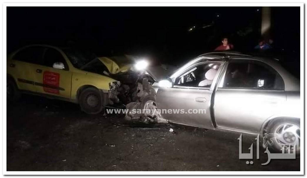بالصور .. اربد : اصابة 8 اشخاص بجروح خطيرة بحادث تصادم في وادي الريان