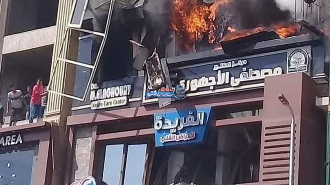 تفاصيل جديدة حول سقوط مصرية من الطابق الثالث خوفا من الموت حرقا
