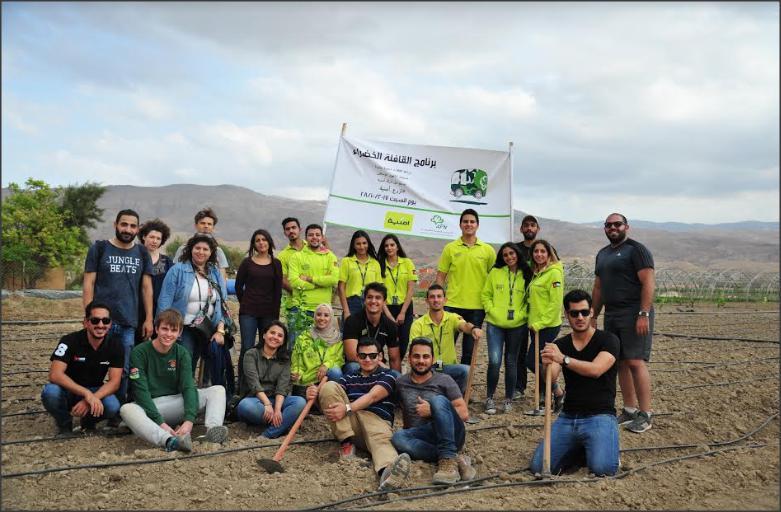 أمنية تواصل دعمها لبرنامج القافلة الخضراء وتزرع 1000 شجرة في الأغوار الوسطى