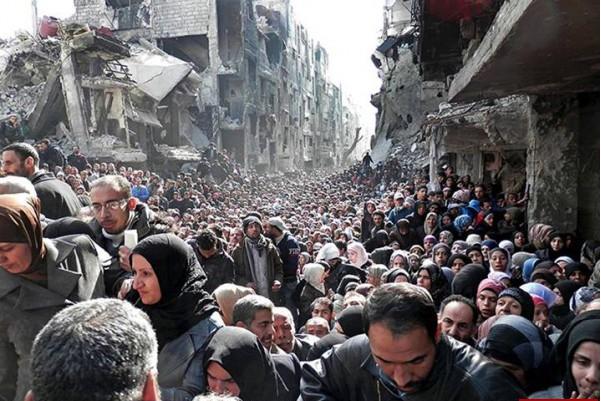صورة  ..  شاهد الواقع الانساني المرير في مخيم  اليرموك