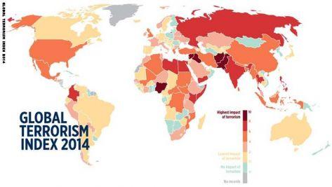الأردن تحتل المرتبة 16 في ''مؤشر الإرهاب الدولي'' لعام 2014