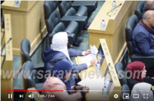 """بالفيديو  ..  النائب طهبوب تطالب باسقاط الحكومة اذا وافقت على اتفاقية الغاز وطرح الثقةبوزيرة """"الطاقة"""""""