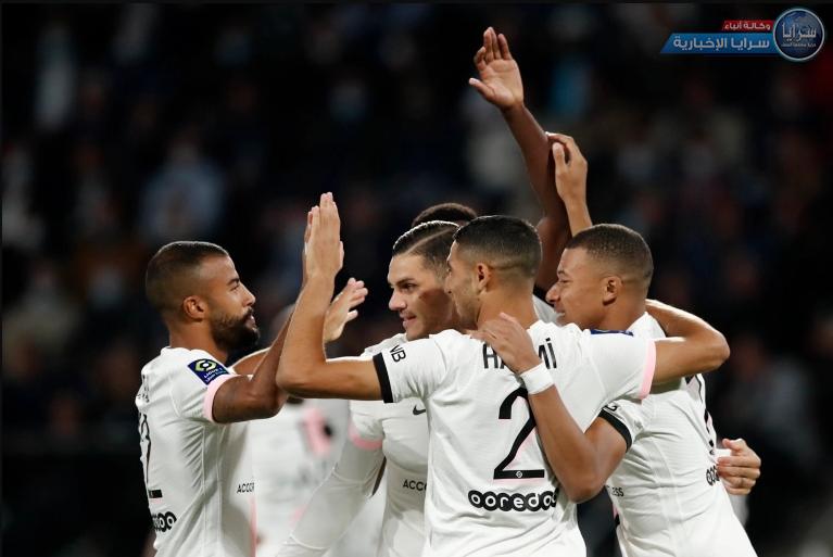 ثنائية حكيمي تقود باريس سان جيرمان لفوز قاتل على متذيل الدوري الفرنسي