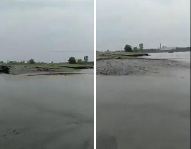 بالفيديو : ظاهرة غريبة  ..  لحظة انشقاق الماء وظهور أرض بشكل مفاجئ بالهند!