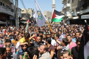 بالصور : مسيرة وسط عمان تطالب بطرد السفير الاسرائيلي