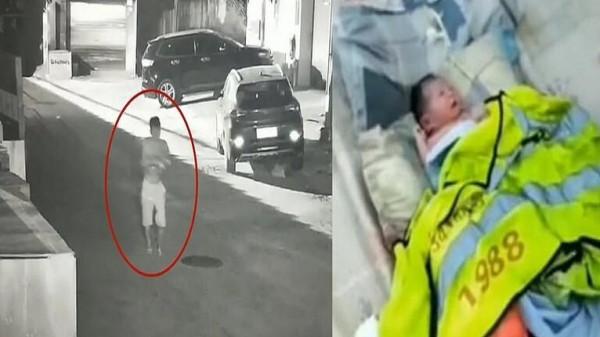 شاهد: أب يُلقي ابنته الرضيعة في سلة المهملات