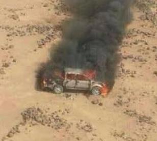 القوات المسلحة تدمر آلية حاولت اجتياز حدودنا مع العراق ..وتعتقل شخصين حاولا التسلل عبر المياه الاقليمية