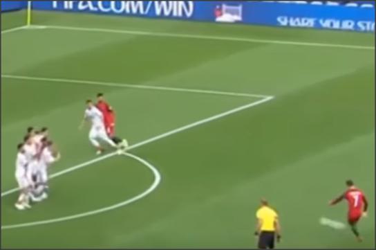بالفيديو .. هدف رونالدو الذي لغاه الحكم في لقطه غريبه