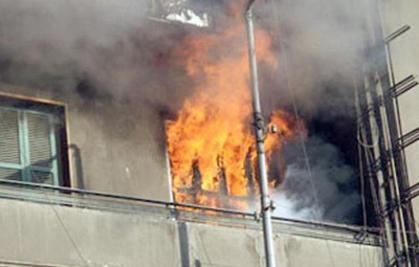 حريق يلتهم شقة في إربد