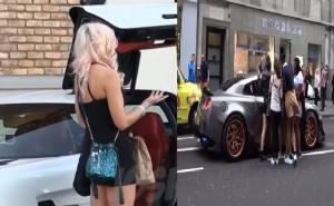 بالفيديو ..شاهد كيف تتجمهر الفتيات الجميلات على سيارات اثرياء العرب الفاخرة في لندن