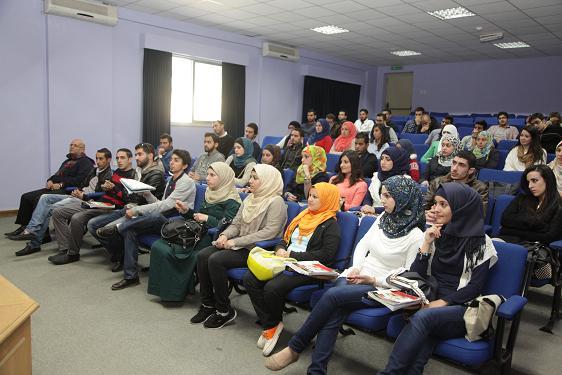 """فعالية """"محاضرة تعريفية عن جائزة الأمير الحسن للشباب"""" في جامعة البترا"""