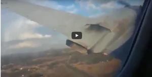 فيديو مرعب لسقوط طائرة في مزرعة ادت لقتل شخصين واصابة 20 اخرون