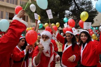 مسيرة رحلة الألف طفل الى بيت لحم، بمناسبة الأعياد المجيدة