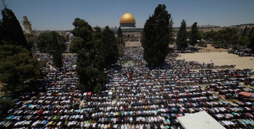 تأخير صلاة العيد في المسجد الأقصى