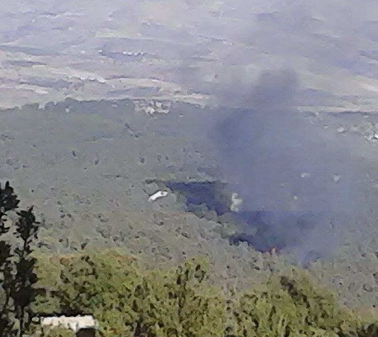 بالصور : إخماد حريق ضخم في دبين
