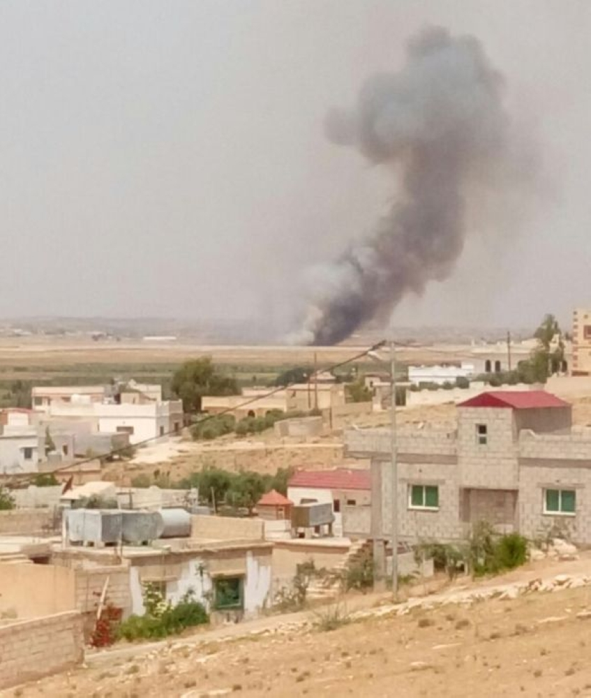 المفرق: سقوط قذيفة سورية داخل المنطقة التنموية الصناعية في بلدة جابر