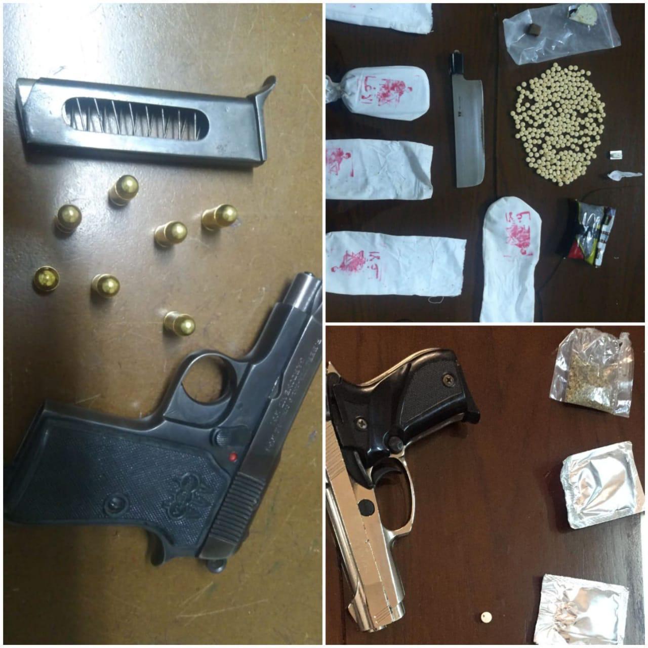 القبض على (25) شخصا من مروجي المواد المخدرة و ضبط بحوزتهم (5) اسلحة نارية وكميات من المواد المخدرة
