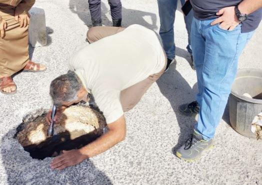 اكتشاف بئر يعود للعصور الرومانية في بلدة جفين غرب اربد