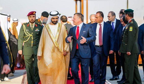 محمد بن راشد يرد على تغريدة الملك : ستبقى الإمارات والأردن قلباً واحداً