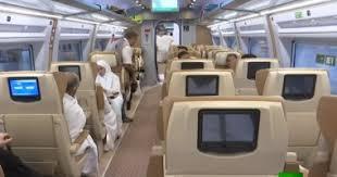 بالفيديو  ..  قطار سريع ينقل الحجاج إلى مكة المكرمة في وقت قياسي