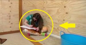 بالصور .. أم تحبس ابنتها في صندوق خشبي لحمايتها.. والسبب!