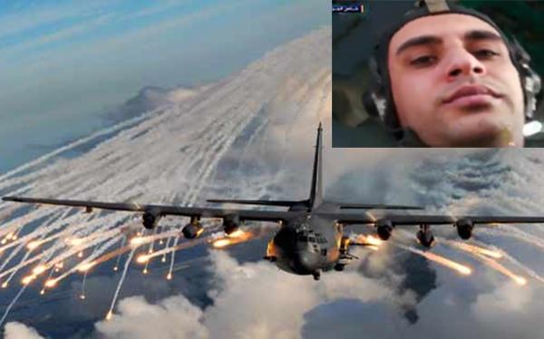 شاهد: اللحظات الأخيرة لطيار سوري وهو يستمتع بإلقاء البراميل المتفجرة قبل إسقاط طائرته في إدلب