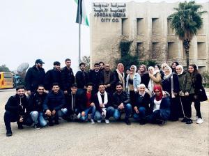 الزيتونة الاردنية تنظم زيارة علمية الى المدينة الاعلامية واذاعة حياة اف ام