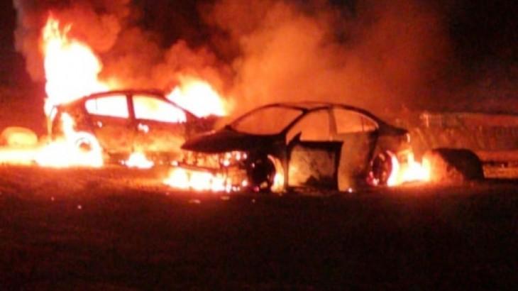 مستوطنون يحرقون مركبتين في فرعتا غرب نابلس