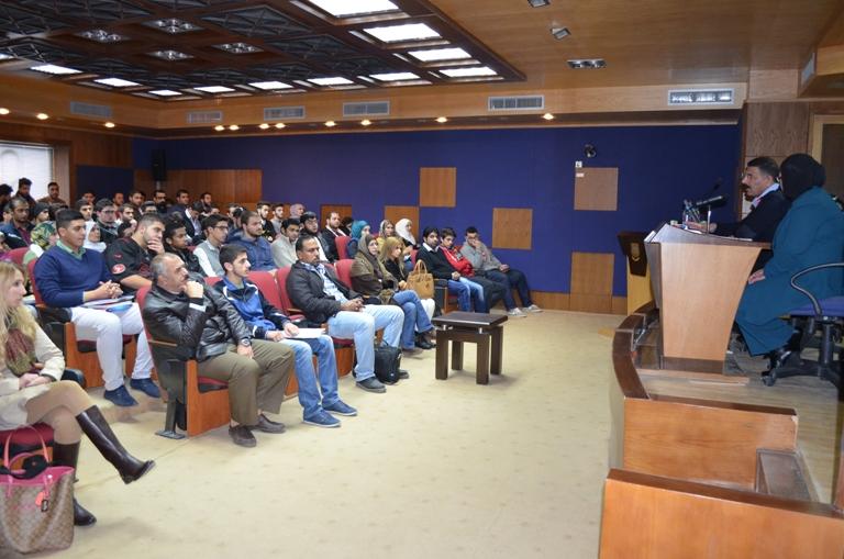 محاضرة بعنوان (ظاهرة إطلاق العيارات النارية واقع وتحديات) في جامعة عمان الأهلية