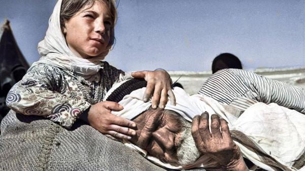 """شاهد أول صور ملونة لـ """"نكبة"""" فلسطين قبل 72 عاماً"""