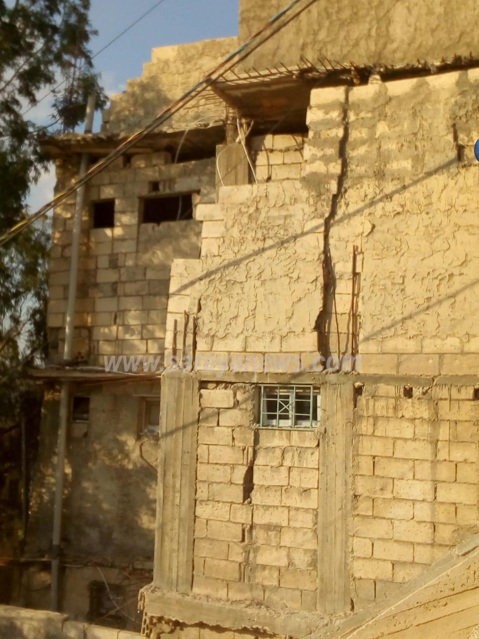 بالصور  ..  تحذير  ..  منزل مسكون في ماركا ايل للسقوط