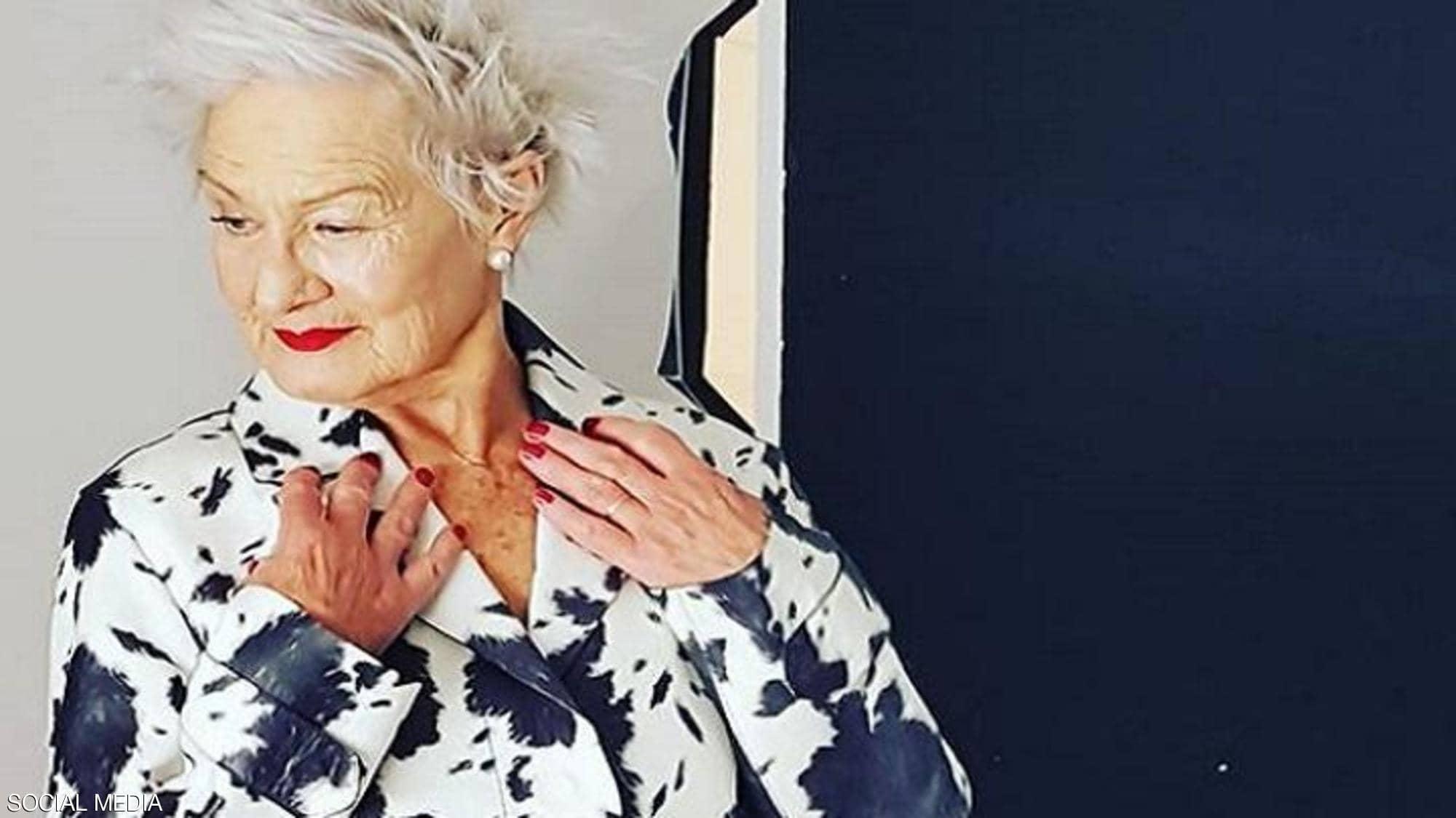 عجوز تحقق حلمها وتصبح عارضة أزياء في سن الثمانين