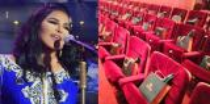 """بالفيديو و الصور  ..   ..  هدية صادمة للسعودين من """"أحلام""""  وضعتها على مقاعد الحضور في أوّل حفلٍ لها بالمملكة!!"""