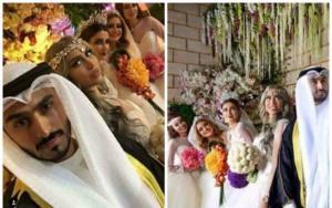 فيديو.. ما حقيقة زواج هذا الكويتي من 4 فتيات في ليلة واحدة؟