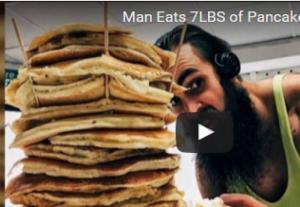 بالفيديو.. رجل الفطائر أكل 3 كيلو جرامات في 20 دقيقة