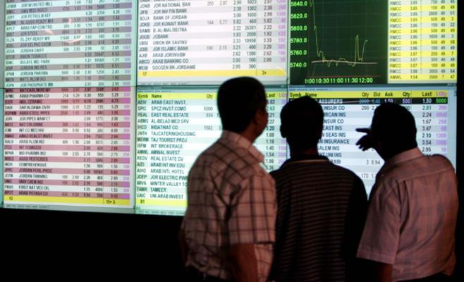 بورصة عمان تهبط بعد إعلان الحكومة عن مشروع ''الدخل''